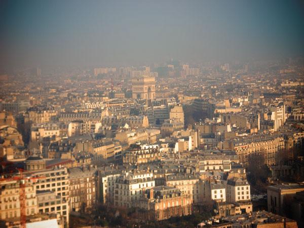 Arco do Triunfo visto da Torre Eiffel - Paris - Fui e Vou Voltar - Alessandro Paiva
