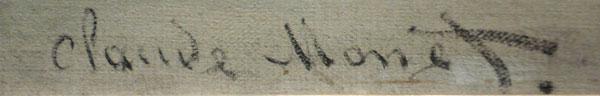 Assinatura de Monet no quadro Chasse-marée à l'ancre, no Museu d'Orsay - Paris - Fui e Vou Voltar - Alessandro Paiva