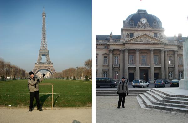 Champ de Mars e Escola Militar - Torre Eiffel - Paris