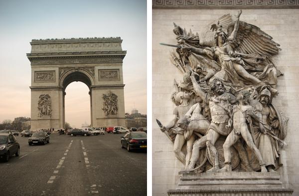 Marselhesa e Arco do Triunfo - Paris