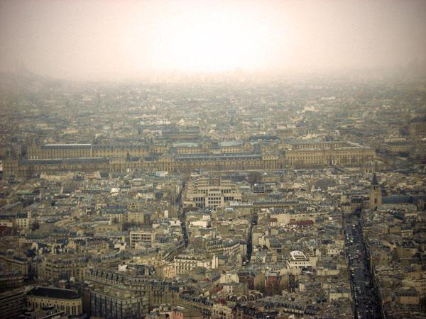 Louvre visto da Torre Montparnasse - Paris - Fui e Vou Voltar - Alessandro Paiva