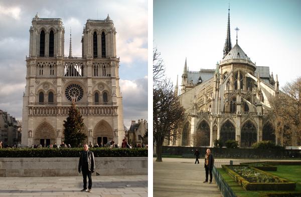 Notre Dame: frente e fundos - Paris