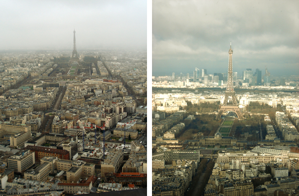 Torre Eiffel vista da Torre Montparnasse - Paris