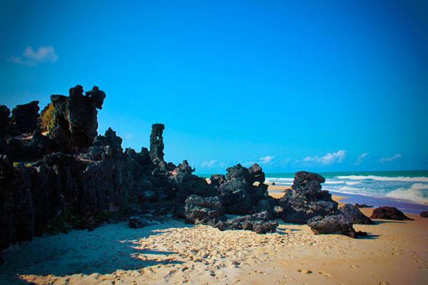Formações de pedras na Praia do Amor - Natal - Fui e Vou Voltar - Alessandro Paiva