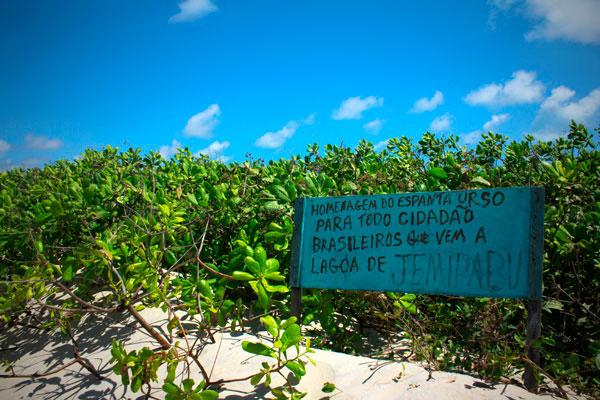 Homenagem de um potiguar ao turista brasileiro, em Genipabu - Natal - Fui e Vou Voltar - Alessandro Paiva