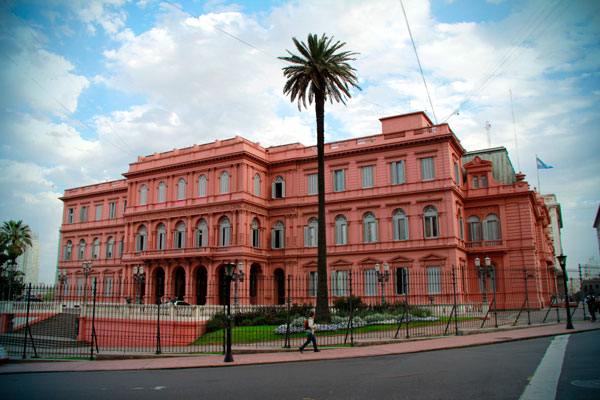 Vista lateral da Casa Rosada - Buenos Aires - Fui e Vou Voltar - Alessandro Paiva