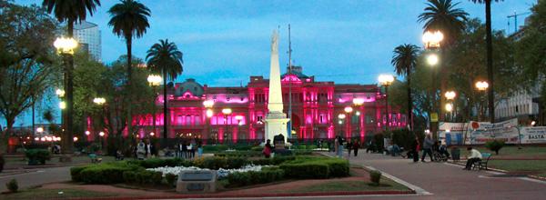 Casa Rosada iluminada - Buenos Aires - Fui e Vou Voltar - Alessandro Paiva