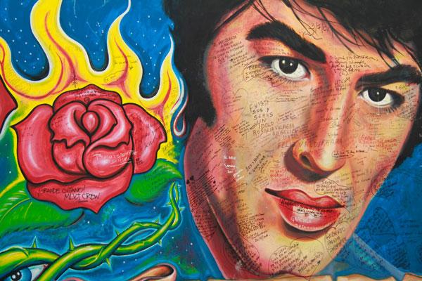 Muro com pintura em homenagem a Roberto Sánchez (Sandro) - Buenos Aires - Fui e Vou Voltar - Alessandro Paiva