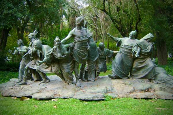 Saturnalia, de Ernesto Biondi, no Jardim Bontânico Carlos Thays - Buenos Aires - Fui e Vou Voltar - Alessandro Paiva