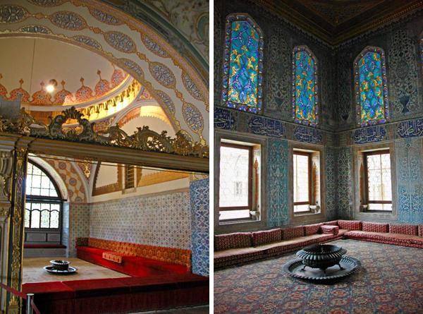 Sala da Câmara do Conselho Imperial e uma das salas do harém de Topkapı - Istambul - Alessandro Paiva