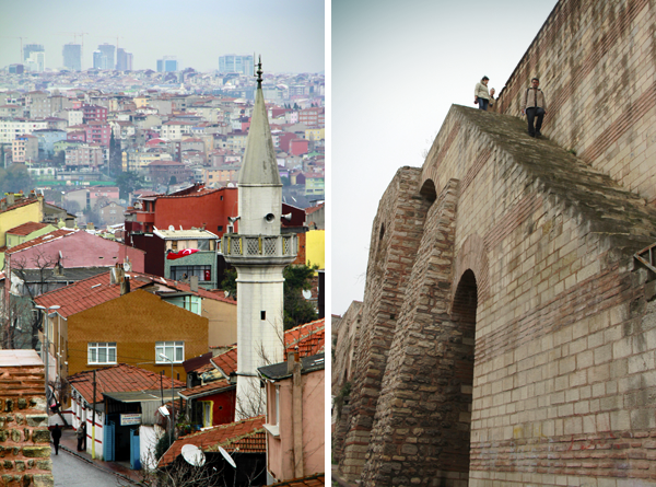 Vista da muralha e escadaria, na altura da Hoca Çakır Caddesi - Istambul - Alessandro Paiva