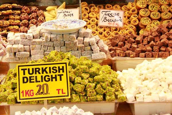 Lokum (delícias turcas), no Bazar Egípcio - Istanbul - Fui e Vou Voltar - Alessandro Paiva
