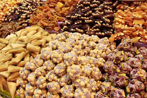 Doces turcos, no Bazar Egípcio - Istanbul - Fui e Vou Voltar - Alessandro Paiva