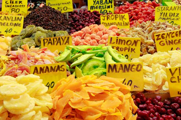 Frutas secas, no Bazar Egípcio - Istanbul - Fui e Vou Voltar - Alessandro Paiva