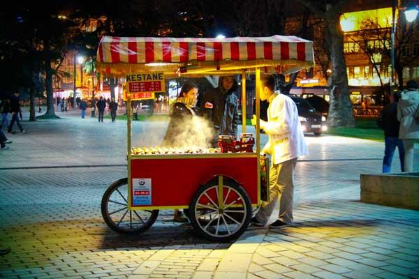 Carrinho de castanha (kestane) - Istanbul - Fui e Vou Voltar - Alessandro Paiva