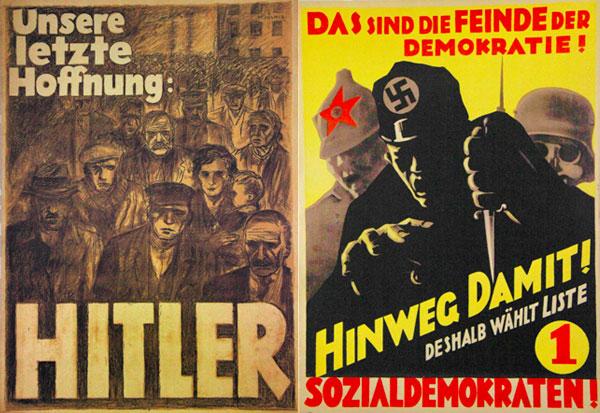 Cartazes da campanha nazista expostos no museu - München - Fui e Vou Voltar - Alessandro Paiva