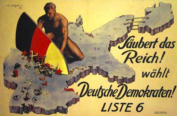 Cartaz do Partido Democrata Alemão (Deutsche Demokratische Partei - DDP) - München - Fui e Vou Voltar - Alessandro Paiva