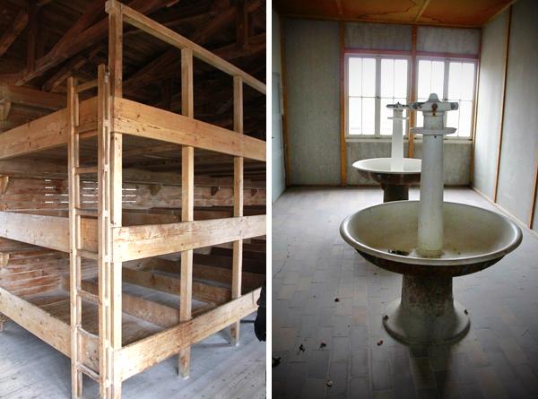 Dormitório e sala de banho do campo de concentração - Munique - Alessandro Paiva