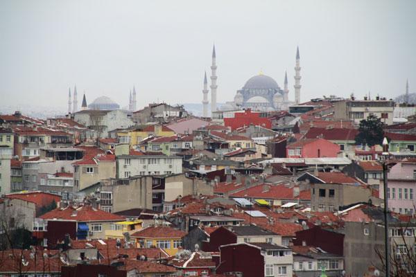 Vista de cima da muralha na altura da Hoca Çakır - Istanbul - Fui e Vou Voltar - Alessandro Paiva