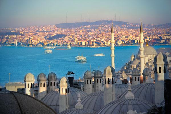 Foto tirada do pátio da Mesquita Süleymanyie - Istanbul - Fui e Vou Voltar - Alessandro Paiva