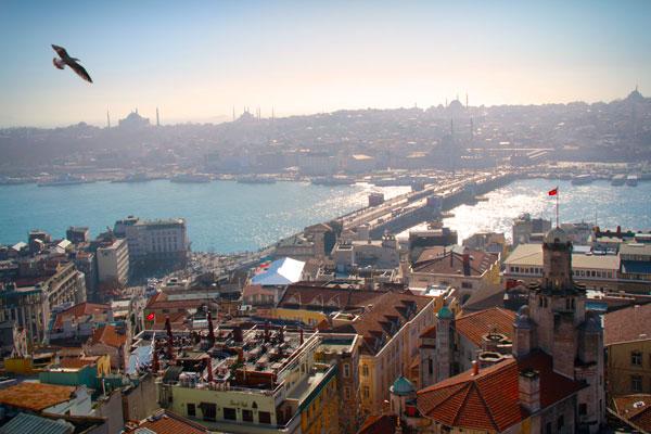 Chifre de Ouro e Ponte de Gálata vistos da Torre de Gálata - Istanbul - Fui e Vou Voltar - Alessandro Paiva