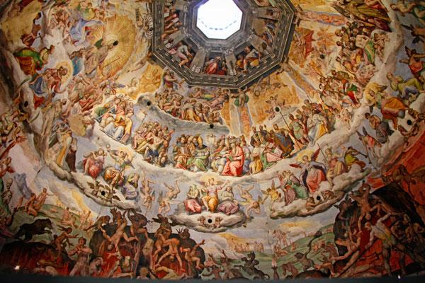 Detalhe dos afrescos no domo da Catedral de Santa Maria del Fiore - Firenze - Fui e Vou Voltar - Alessandro Paiva