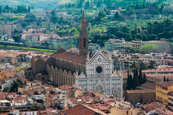 Basílica de Santa Cruz, vista do domo da Catedral de Santa Maria del Fiore - Firenze - Fui e Vou Voltar - Alessandro Paiva
