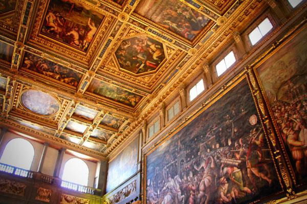 Teto do Salão dos Quinhentos, no Palazzo Vecchio - Firenze - Fui e Vou Voltar - Alessandro Paiva
