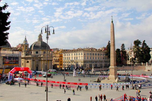 Piazza del Popolo, com destaque para o Obelisco Flaminio - Roma - Fui e Vou Voltar - Alessandro Paiva