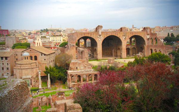 Palatino, com destaque para a Basílica de Magêncio - Roma - Fui e Vou Voltar - Alessandro Paiva