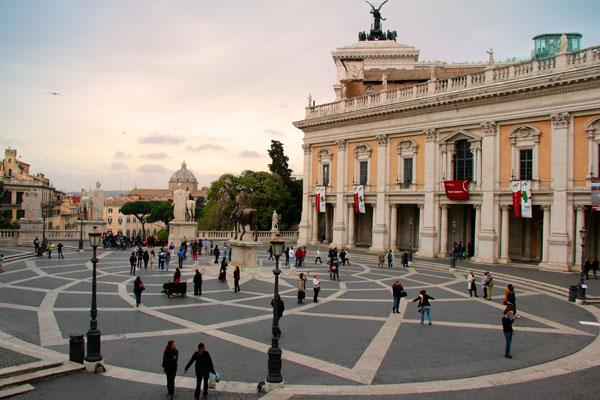 Piazza del Campidoglio, no Monte Capitolino - Roma - Fui e Vou Voltar - Alessandro Paiva