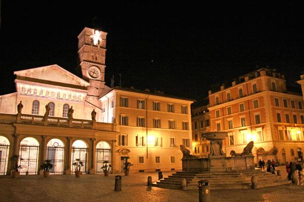 Piazza Santa Maria in Trastevere - Roma - Fui e Vou Voltar - Alessandro Paiva