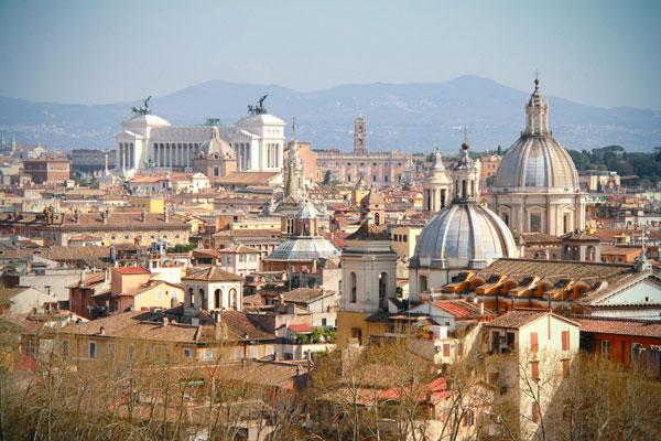 Vista do Terraço de Sant'Angelo - Roma - Fui e Vou Voltar - Alessandro Paiva