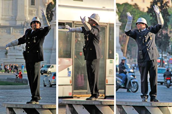 Policial de trânsito - Roma - Fui e Vou Voltar - Alessandro Paiva