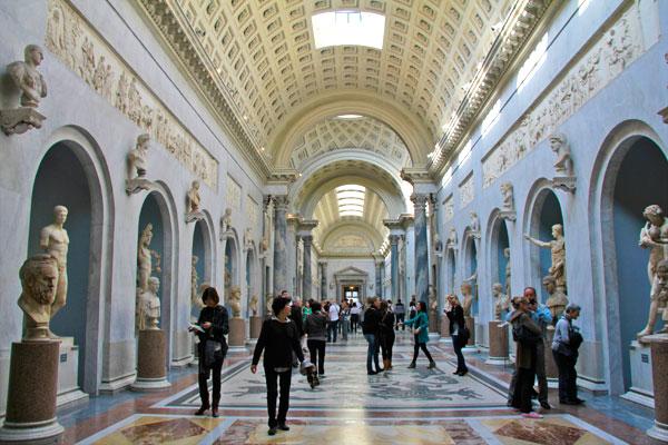 Braccio Nuovo, setor do Museu Chiaramonti, nos Museus Vaticano - Roma - Fui e Vou Voltar - Alessandro Paiva