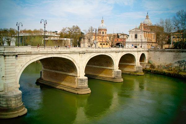 Ponte Cavour, sobre o Rio Tibre - Roma - Fui e Vou Voltar - Alessandro Paiva