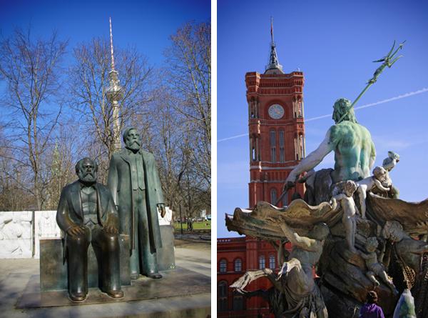 Marx-Engels-Forum e Neptunbrunnen - Berlin - Fui e Vou Voltar - Alessandro Paiva