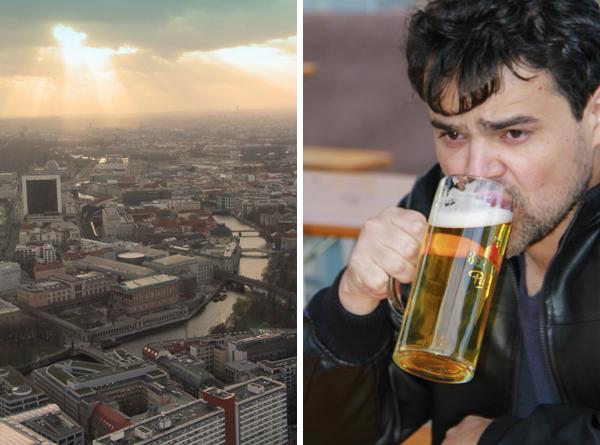 Berlim vista do observatório da Fernsehturm - Berlin - Fui e Vou Voltar - Alessandro Paiva