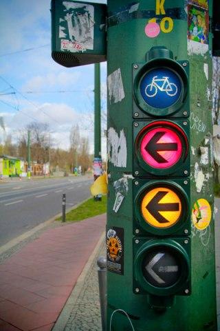Semáforo para ciclistas - Berlin - Fui e Vou Voltar - Alessandro Paiva