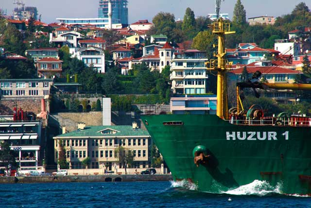 Embarcação no Bósforo