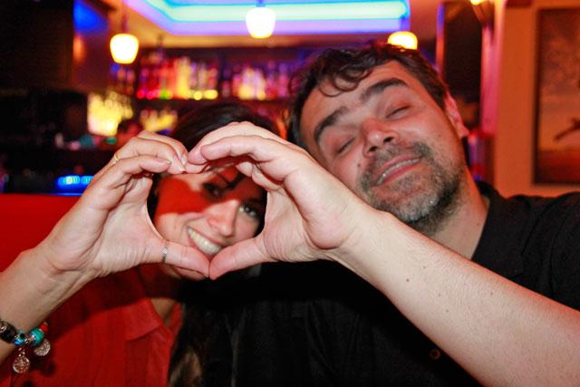 Ana e Élcio ensaiam um coração, no Mavi