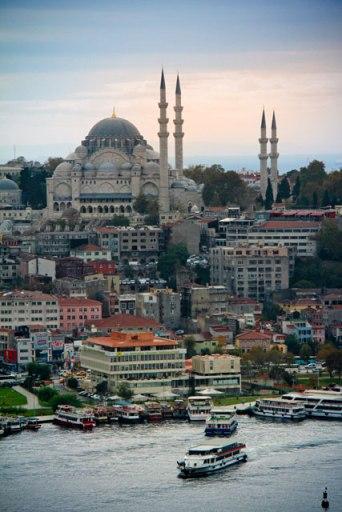 Mesquita Süleymanyie, vista da Torre de Gálata
