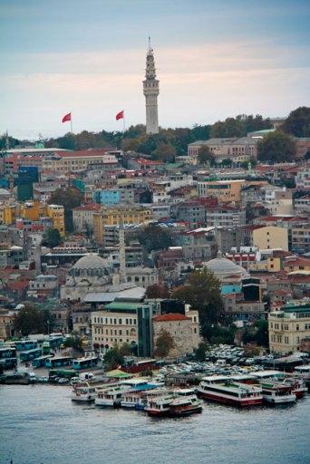 Torre de Beyazıt, vista da Torre de Gálata