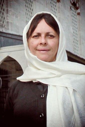 Minha mãe de lenço, em Sultanahmet