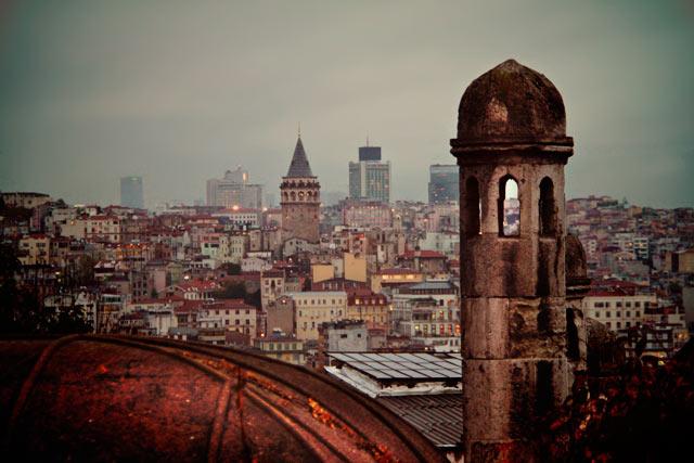 Torre de Gálata vista da Süleymaniye
