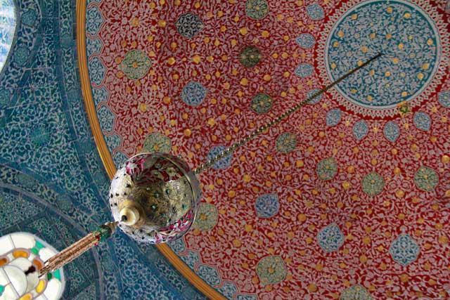 Teto do Pavilhão Baghdad, no Topkapı