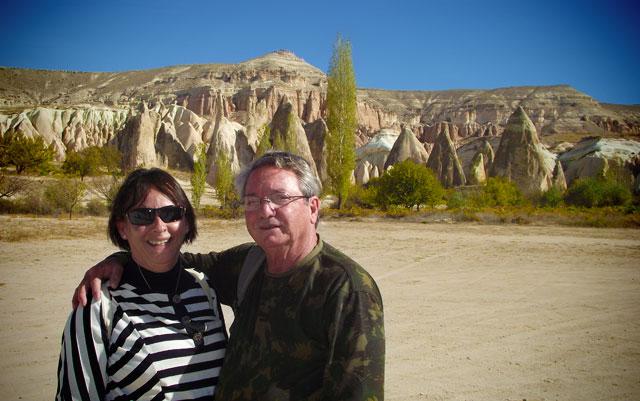 Meus pais, na Capadócia
