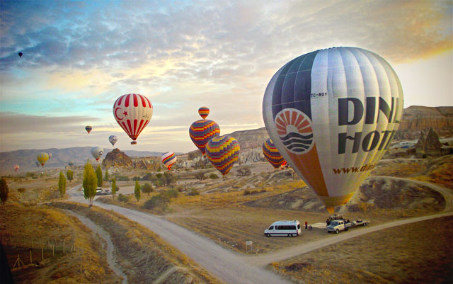 Passeio de balão, na Capadócia