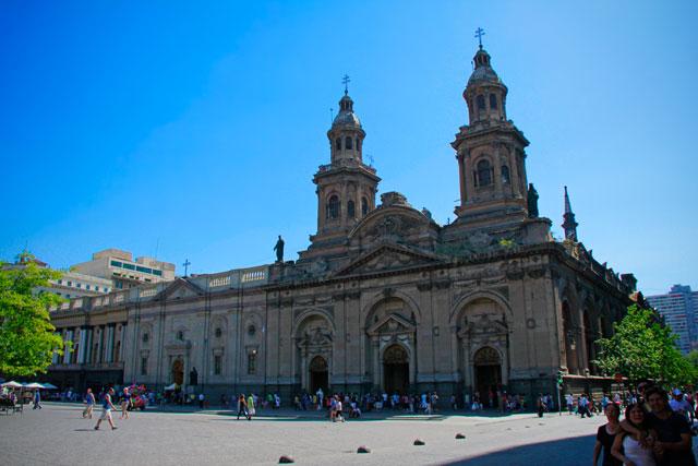 Catedral Metropolitana de Santiago, na Plaza de Armas