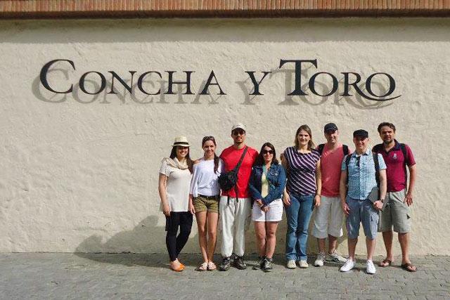 Entrada da vinícola Concha y Toro
